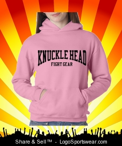 Girls Pink Hooded Pullover Design Zoom